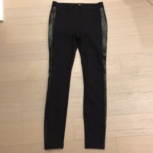 Joe Fresh Pants - Black leggings with leather details